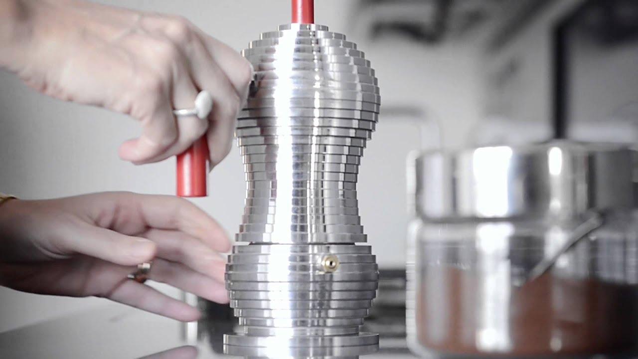 Pulcina Espresso Coffee Maker // Red (3 Cups) video thumbnail