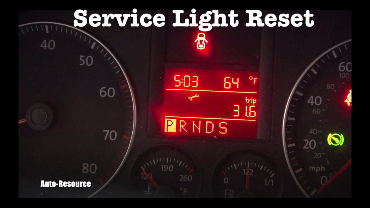 service light reset on vw jetta 2005 2006 2007 2008 2009 2010