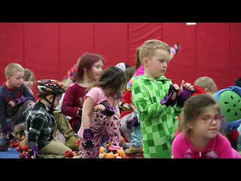 Kathryn Winn Primary students are learning to roller skate