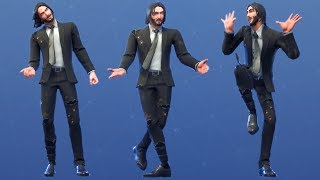 Fortnite John Wick Damage Skin Performs All Dances & Emotes