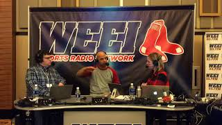 Alex Cora with Trenni & Tomase at Red Sox Winter Weekend