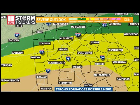 Georgia Weather Forecast: Risk For Severe Weather Expanded And Enhanced (9AM Update)