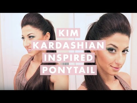 Kim Kardashian Inspired High Ponytail