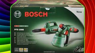 Краскопульт электрический BOSCH PFS 1000. Видео инструкция по работе с краскораспылителем  BOSH.