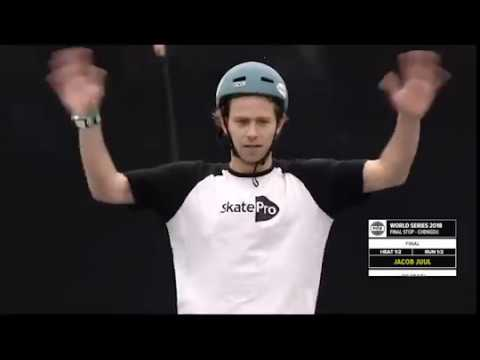 FWS CHENGDU 2018 WS Freestyle Park Cup Final - Jacob Juul the most  technical skater of Europe