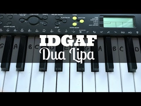 IDGAF - Dua Lipa | Easy Keyboard Tutorial With Notes (Right Hand)