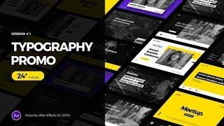 Animierte Typografie Promo ★ After Effects Template ★ AE-Vorlagen