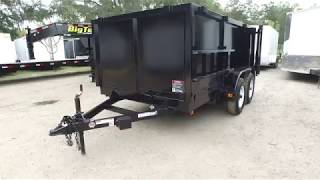 6x12 Red Hot Trailers - Dump Trailer - LOW RIDER - HIGH SIDES
