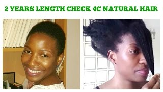 2 years Length Check | natural 4c hair growth | grow your edges back | Simply Gifty