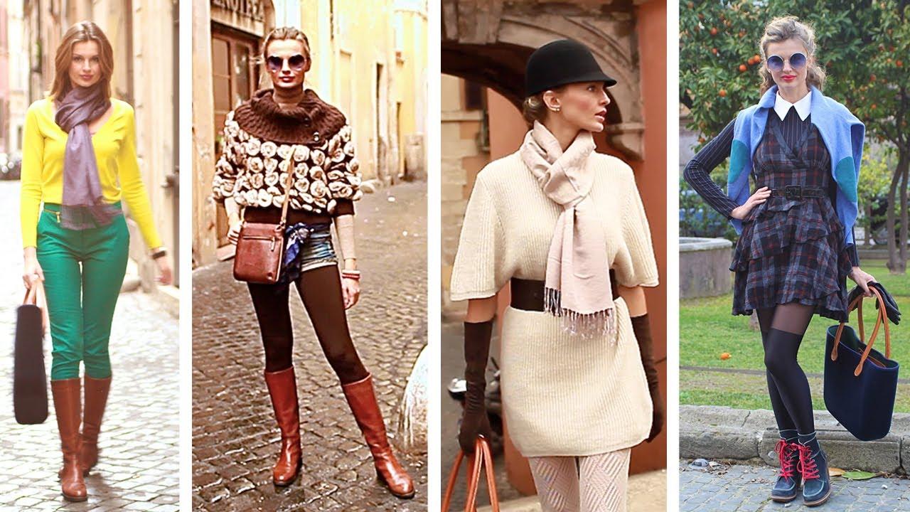 Зима Осень Одежда