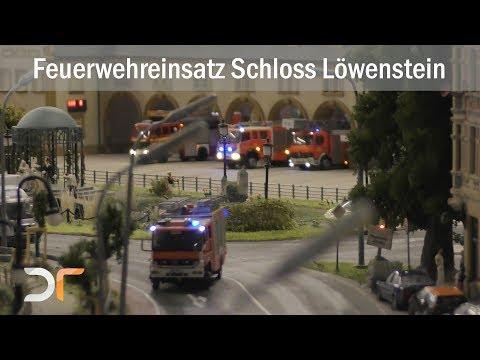 MiWuLa - Feuerwehreinsatz am Schloß Löwenstein - Miniaturwunderland Hamburg | RC 1:87