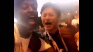 Japan & Senegal fans SING 'WE ARE' ONE PIECE anime THEME SONG after 2-2 Draw 6/25/18