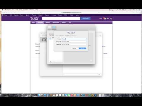 How To Add Yahoo Account To OS X Messages App In OS X 10.10.1