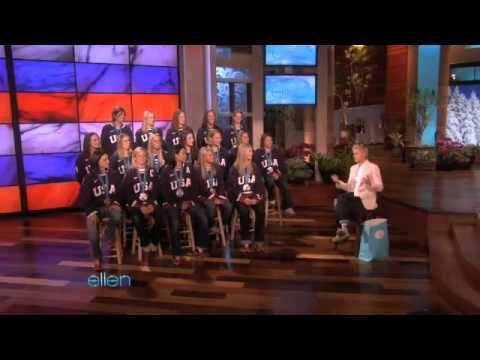 The US Women's Hockey Team Brings Olympic Silver to Ellen