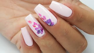Flowers nails art Tutorial step by step / Sunflower Professional #flowersnails