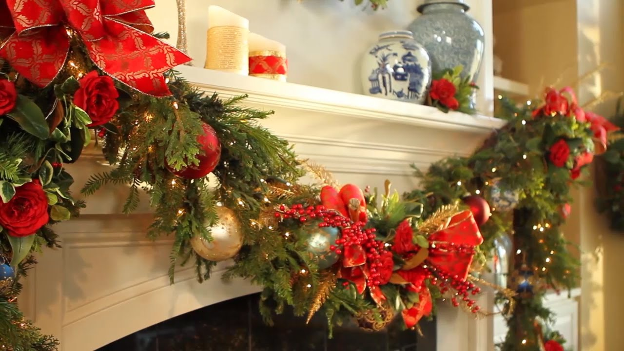 Christmas Mantel Ideas.How To Decorate Your Holiday Mantel Video