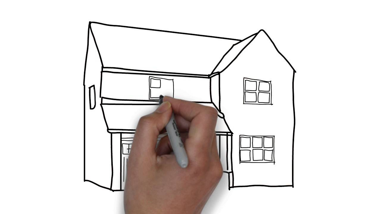 how to sketch a house for kids - Sketch For Kids