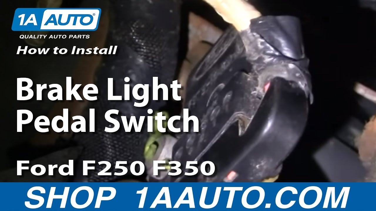 how to install replace brake light pedal switch ford f250 f350 1999 rh youtube com Peterbilt Brake Light Switch Diagram Brake Light Wiring Diagram