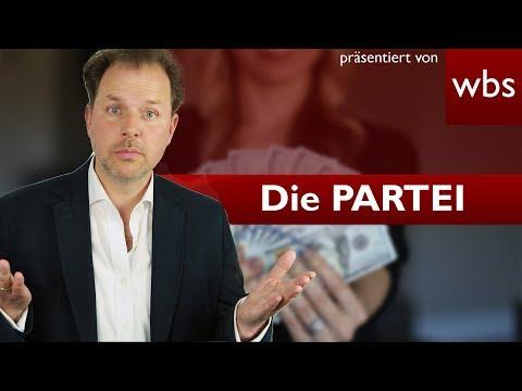 Die PARTEI vs. Bundestag - War der Geldtausch legal? | Rechtsanwalt Christian Solmecke