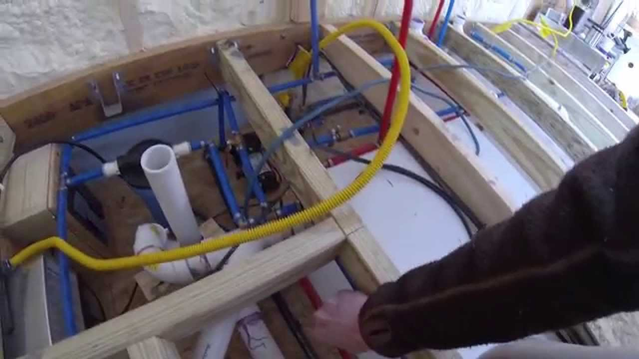 Tiny House Plumbing and Cabinets YouTube
