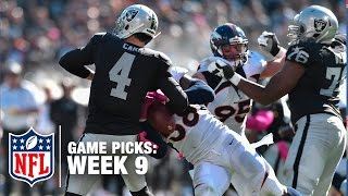 Game Picks in 60 Seconds (Week 9) ⏱🏈  | NFL NOW