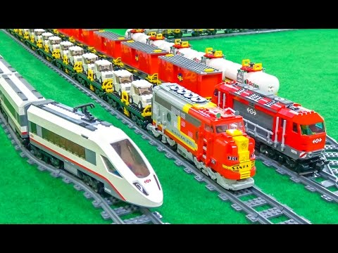 Thumbnail: FANTASTIC Lego trains in motion on a huge layout!
