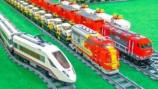 FANTASTIC Lego® trains in motion on a huge layout!