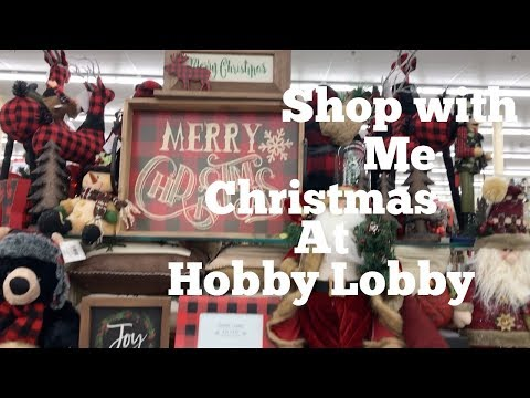 2017 CHRISTMAS AT HOBBY LOBBY-SHOP WITH ME