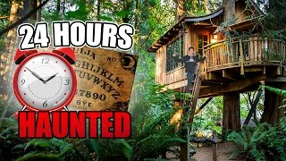 (OUIJA) 24 HOUR OVERNIGHT CHALLENGE IN A HAUNTED TREE HOUSE (O…