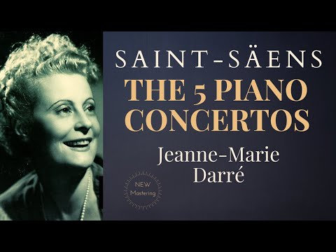 Saint-Saëns - Piano Concertos No.1,2,3,4,5 + Presentation (Century's recording : Jeanne-Marie Darré)