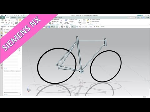 Bicycle Frame - Quick & Dirty - Siemens NX 10 Training - Surfaces