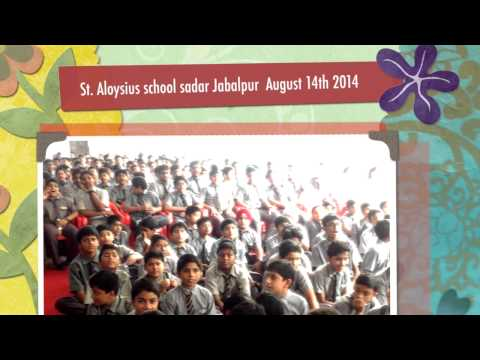 St. Aloysius School Sadar Cantt Jabalpur Patriotic song competition performance 2014 Amitabh Rao