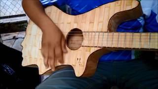 guitar handmade bằng que đè lưỡi