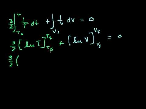 Доказательство: соотношение объёмов в цикле Карно