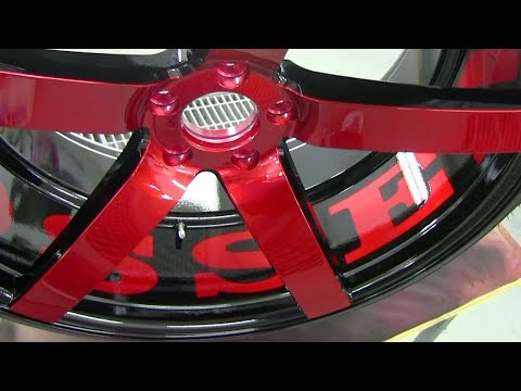 How To Paint Wheels Candy Red Black How To Paint Rims