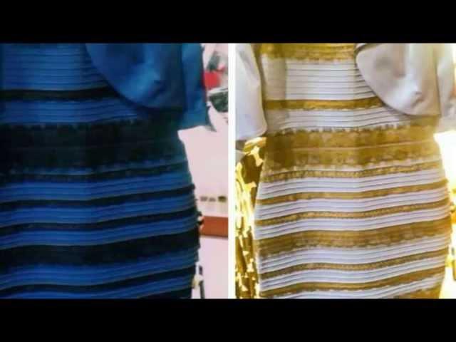 Vestido azul i negro o blanco y dorado