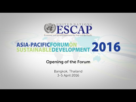 APFSD 2016: Opening & Session 1