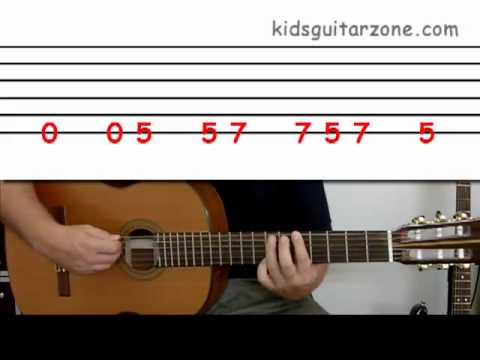 Guitar lesson 2D : Beginner -- 'Summer lovin' on one string