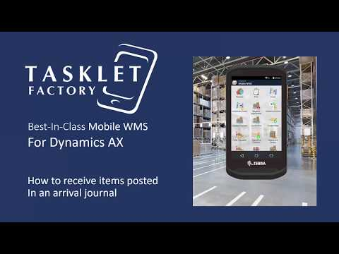How to receive items posted in an arrival journal using Mobile WMS for Tasklet Factory