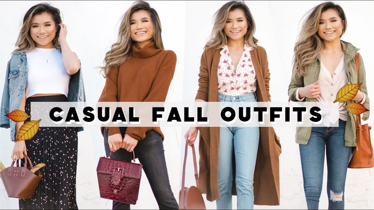 4 Casual FALL OUTFIT IDEAS