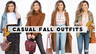 4 Casual FALL OUTFIT IDEAS | Fall Outfit Lookbook 2018 with Koolaburra | Miss Louie