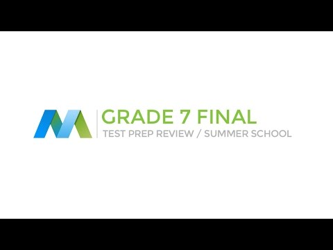 Mathematics Grade 7 Review - Test Prep (1/4)