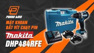 Máy khoan bắt vít dùng pin 18V Makita DHP484RFE