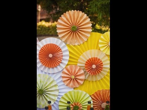 DIY: construction paper fan for birthday parties n weddings decoration
