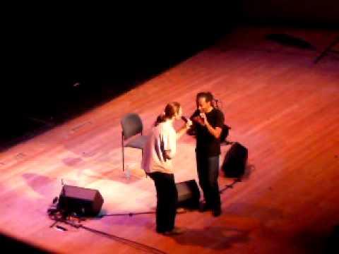 Bobby McFerrin y Juan en la Opera de Dresden Alemania