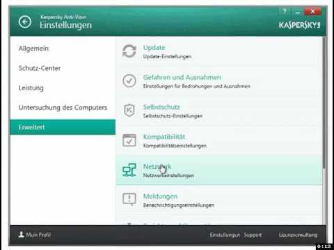 Kaspersky 2014 HTTPS-Scanning deaktivieren - YouTube