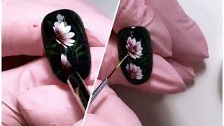 Китайская роспись на ногтях. Рисуем цветы