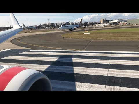 Virgin Australia Boeing 737-800 Takeoff From Sydney Kingsford Smith Airport