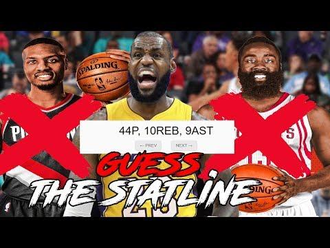 GUESS THE NBA STATLINE   KOT4Q