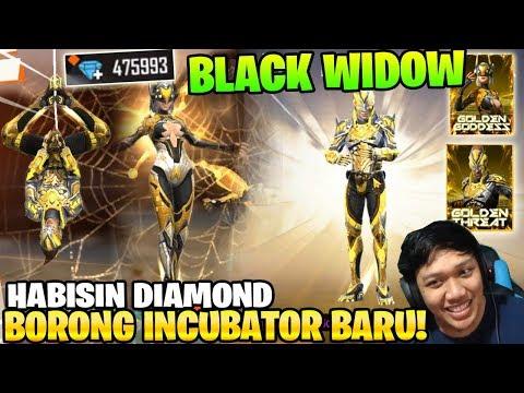 SPIN SEMUA! BORONG INCUBATOR BLACK WIDOW TERBARU! - Garena Free Fire